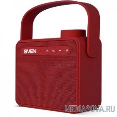 SVEN PS-72,  красный (6 Вт, Bluetooth, FM, USB, microSD, ручка)