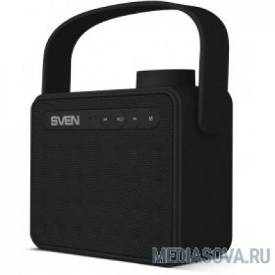 SVEN PS-72,  черный  (6 Вт, Bluetooth, FM, USB, microSD, ручка)
