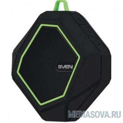 SVEN PS -77, черный-зеленый [SV-016463] (5 Вт, Bluetooth, microSD, FM-тюнер )
