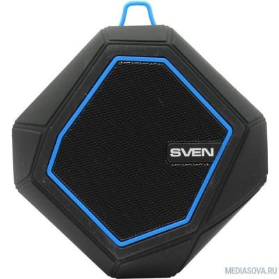 SVEN PS -77, черный-синий [SV-016432] (5 Вт, Bluetooth, microSD, FM-тюнер)