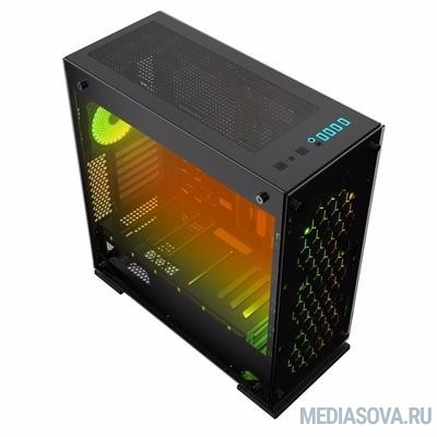GameMax [M910 Onyx II] (Midi Tower, ATX, Black, RGB front) (без БП)