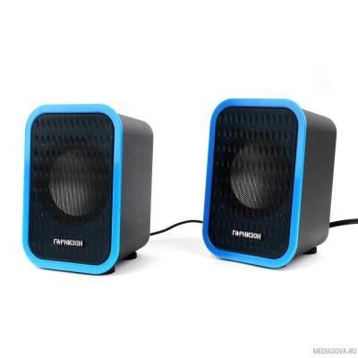 Гарнизон GSP-110 черный/синий 6 Вт (RMS), USB, 80 - 20 000 Гц, 4 Ом
