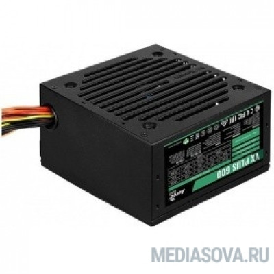Блок питания Aerocool 600W VX-600 PLUS (24+4+4pin) 120mm fan 3xSATA RTL