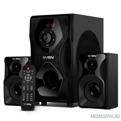 SVEN AC MS-2055, черный (55Вт, FM-тюнер, USB/SD, дисплей, ПДУ, Bluetooth)