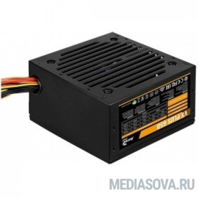 Блок питания Aerocool 650W VX-650 PLUS  (24+4+4pin) 120mm fan 3xSATA RTL