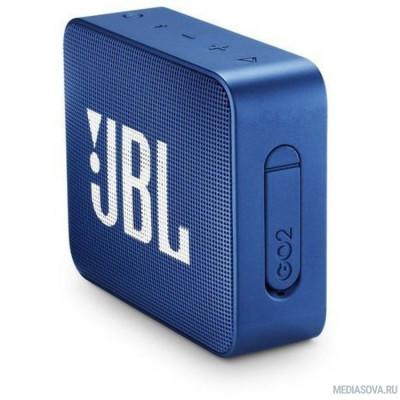 JBL GO 2 синий 3W 1.0 BT/3.5Jack 730mAh (JBLGO2BLU)