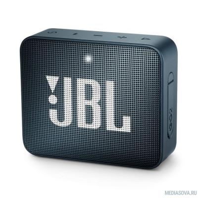 JBL GO 2 синий 3W 1.0 BT/3.5Jack 730mAh (JBLGO2NAVY)