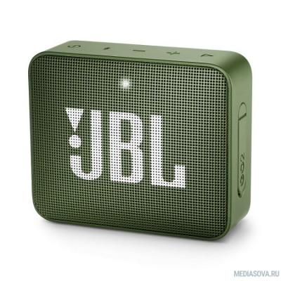JBL GO 2 зеленый 3W 1.0 BT/3.5Jack 730mAh (JBLGO2GRN)