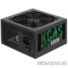 Aerocool 600W RTL KCAS-600 PLUS   80+ bronze (24+4+4pin) APFC 120mm fan 7xSATA RTL