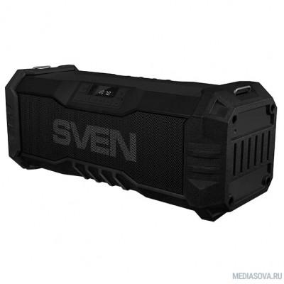 SVEN PS-430, черный (15 Вт, Waterproof (IPx5),Bluetooth, FM, USB, microSD, LED-дисплей, 2000мА*ч)