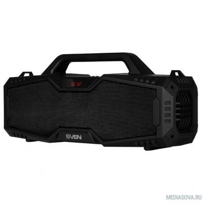 SVEN PS-480, черный (24 Вт, Bluetooth, FM, USB, microSD, LED-дисплей, 2000мА*ч)