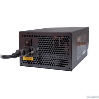Блок питания Exegate EX260645RUS-S Блок питания 700PPE, ATX, SC, black, APFC, 12cm, 24p+(4+4)p, PCI-E, 5*SATA, 3*IDE, FDD + кабель 220V с защитой от выдергивания
