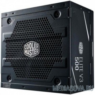 Блок питания Cooler Master Elite V3 500W (MPW-5001-ACABN1-EU) ATX, 120mm, 3xSATA, 1xPCI-E(6+2), APFC