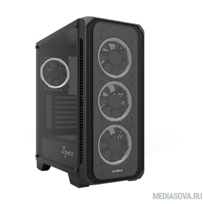 MidiTower Zalman Z7 NEO  Black без БП  боковое окно, ATX