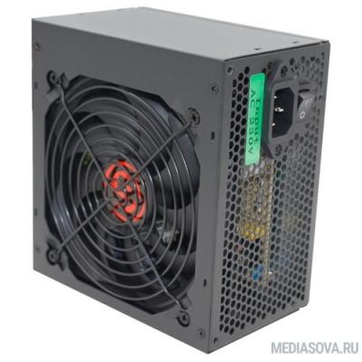 Блок питания Ginzzu CB500 12CM black,24+4p,PCI-E, 4*SATA, 3*IDE,оплетка MB, кабель питания