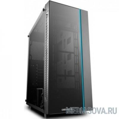 Deepcool MATREXX 55 ATX, Black, LED strip (front), Стекл. фронтальная и боковая панели, Без БП