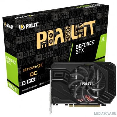 Видеокарта PALIT GeForce  GTX1660Ti STORMX OC 6G GDDR6 [NE6166TS18J9-161F]