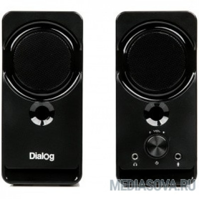 Dialog Stride AST-22UP - акустические колонки 2.0, 8W RMS, Phone Out, Mic In, черные, питание от USB
