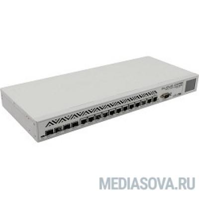 MikroTik CCR1036-12G-4S Маршрутизатор 4 Gigabit SFP порты,12G,1 USB, 4GB RAM power Serial порт, IEC C14 стандартный разъем 110/220В, (rev r2)