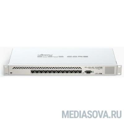 MikroTik CCR1016-12G Cloud Core Router Маршрутизатор (12) 10/100/1000 Mbit/s Gigabit Ethernet with Auto-MDI/X; Tilera Tile-Gx16; 2GB RAM; OS: L6(R2)