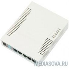MikroTik RB260GS (CSS106-5G-1S) Коммутатор RouterBOARD 260GS 5-port Gigabit smart switch with SFP cage, SwOS, plastic case, PSU