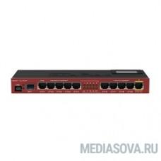 MikroTik RB2011UiAS-IN RouterBOARD Роутер для помещений: 10 Ethernet (5 Gigabit), 1 SFP, 128 МБ RAM, сенсорный дисплей и раздача PoE-питания