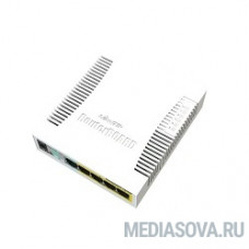MikroTik RB260GSP (CSS106-1G-4P-1S) Коммутатор RouterBOARD 260GSP 1xSFP, 5x10/100/1000 Gigabit Ethernet, PoE with indoor case and power supply