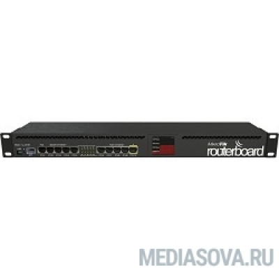 MikroTik RB2011UiAS-RM RouterBOARD Роутер для помещений: 10 Ethernet (5 Gigabit), 1 SFP, 128 МБ RAM, сенсорный дисплей и раздача PoE-питания на 10 порту