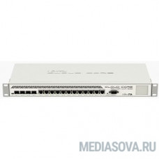 MikroTik CCR1036-12G-4S-EM Маршрутизатор Cloud Core Router (36-cores, 1.2Ghz per core), 8GB RAM, 4xSFP cage, 12xGbit LAN, RouterOS L6, 1U rackmount case, dualPSU, m.2 slot,(rev r2)