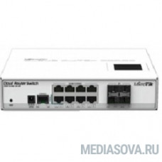 MikroTik CRS112-8G-4S-IN Коммутатор Cloud Router Switch управляемый 8 портов 10/100/1000Mbps