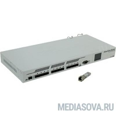 MikroTik CCR1016-12S-1S+ Cloud Core Router 1016-12S-1S+ with Tilera Tile-Gx16 CPU (16-cores, 1.2Ghz per core), 2GB RAM, 12xSFP cages, 1xSFP+ cage, RouterOS L6, 1U rackmount case, Dual PSU, LCD panel
