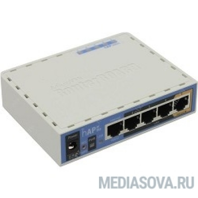 MikroTik RB952Ui-5ac2nD hAP ac Lite Роутер 2.4+5 ГГц, 802.11a/b/g/n/ac, MIMO 2x2, 5x Ethernet