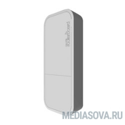 MikroTik RBwAPG-5HacT2HnD (wAP ac White) built-in 2.4 - 5GHz 802.11an/ac Tripple Chain wireless, RouterOS L4, white outdoor enclosure, PSU, PoE белый