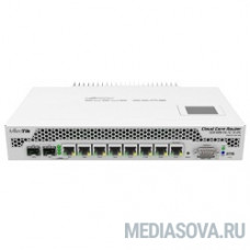 MikroTik CCR1009-7G-1C-1S+PC with Tilera Tile-Gx9 CPU (9-cores, 1Ghz per core), 2GB RAM, 7xGbit LAN, 1x Combo port (1xGbit LAN or SFP), 1x SFP+ cage, RouterOS L6, LCD panel, passive cooling desktop en