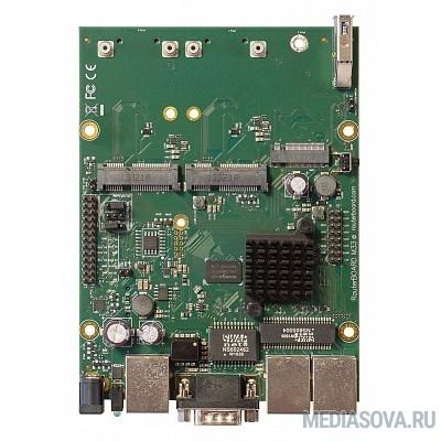 Mikrotik RBM33G RouterBOARD Плата, 880 МГц, 3х 1G Ethernet, 2x miniPCIe, 2x SIM, M.2, USB 3.0, RS232