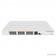 MikroTik CRS328-24P-4S+RM Коммутатор с поддержкой PoE, 802.3af/at, 4 SFP/SFP+, 24 x 1000Mbit