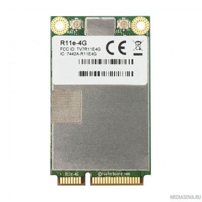 MikroTik R11e-4G Радиокарта miniPCIe LTE, 2x u.FL