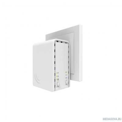 MikroTik PL7411-2nD (PWR-LINE AP) Точка доступа Power Line RouterOS L4, European plug (Type C)