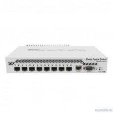 MikroTik CRS309-1G-8S+IN Коммутатор 8 SFP+, dual-core 800MHz CPU, 512MB RAM, POE, RS232 serial port