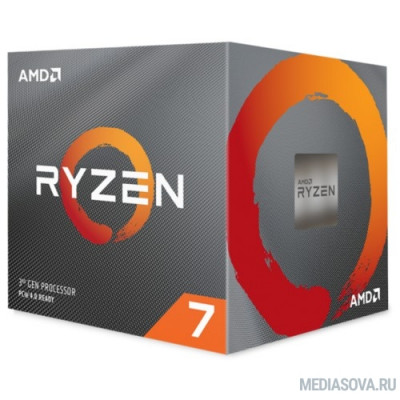 Процессор CPU AMD Ryzen 7 3700X BOX 3.6GHz up to 4.4GHz/8x512Kb+32Mb, 8C/16T, Matisse, 7nm, 65W, unlocked, AM4