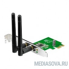 ASUS PCE-N15  WiFi Adapter PCI-E (PCI-Ex1, WLAN 300Mbps, 802.11bgn) 2x ext Antenna