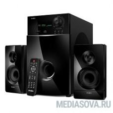 SVEN MS-2100, черный 2.1, 50Вт+2х15Вт, FM-тюнер, USB/SD, дисплей, ПДУ
