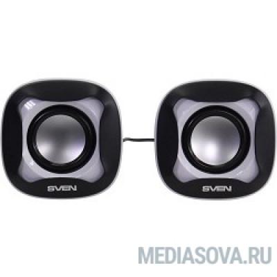 AC SVEN 170, чёрный-белый (5 Вт, питание USB)