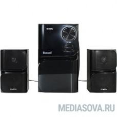 SVEN MS-305 черный  акуст. система 2.1, FM-тюнер, USB/SD, дисплей, ПДУ, Bluetooth, мощн. 20 Вт+2х10 Вт, чёрн