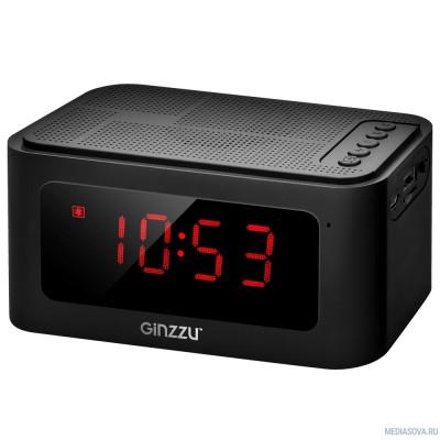 Ginzzu GM-881B BT-Колонка 3W/LCD/USB/TF/AUX/FM/часы/будильник