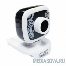 CBR Веб-камера CW-835M Black, универс. крепление, 4 линзы, 1,3 МП, эффекты, микрофон