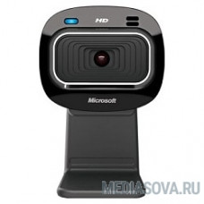 Microsoft LifeCam HD-3000, USB 2.0, 1280*720, автофокус, Mic, Black T3H-00013  RTL