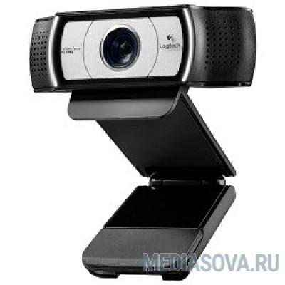 960-000972 Logitech Webcam C930e Full HD 1080p/30fps, автофокус, zoom 4x, угол обзора 90°, стереомикрофон, защитная шторка, кабель 1.83м