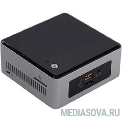 Intel NUC BOXNUC5PPYH, Pentium N3700, 2.40 GHz, 1 х DDR3L SODIMM 1.35V(up to 1600MHz/8Gb), Intel® HD Graphics (VGA + HDMI), 4xUSB3.0, 1x2.5HDD, GBL, WiFi+BT, SDXC card slot, Silver/Black