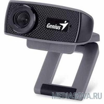Genius FaceCam 1000X Black 720p HD, универсальное крепление, микрофон, USB [32200223101]